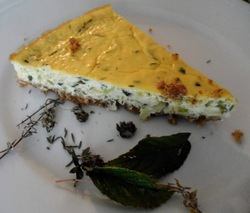 Courgettes en cheese-cake salé