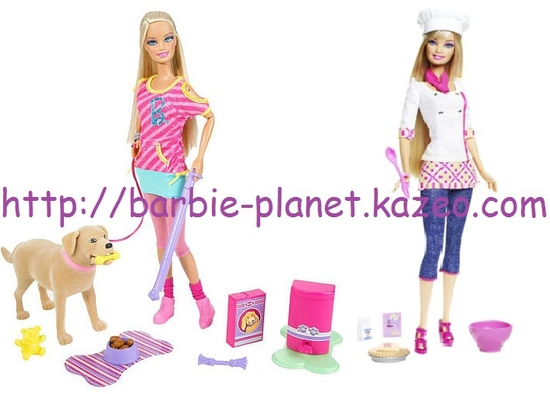 Poupée Barbie et son chien