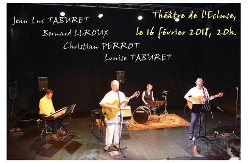 Concert le 16 février 2018 à l'Ecluse: n'oubliez pas!