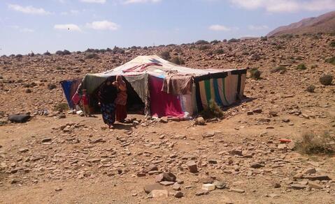 Maison de nomades au Maroc