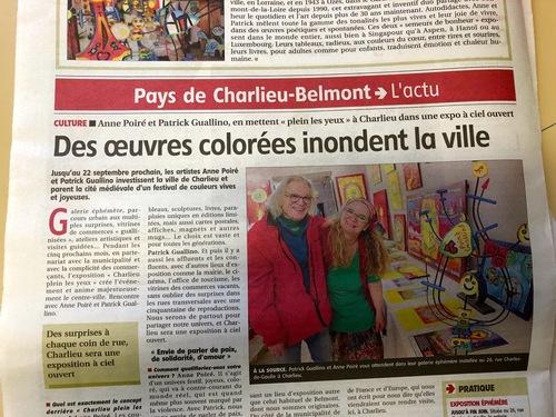 """""""Des œuvres colorées inondent la ville"""""""
