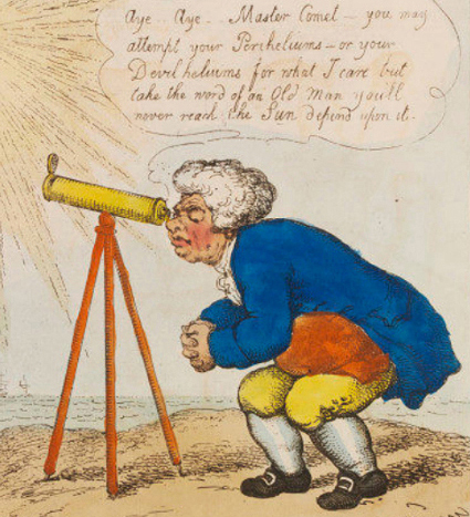 John Bull faisant des observations sur la comète, Thomas Rowlandson, 1807, Londres, Victoria and Albert Museum.