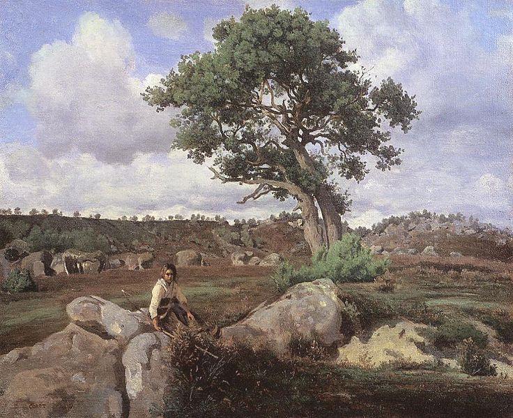 Le chêne - forêt de Fontainebleau  - 1830 - 48x59 cm