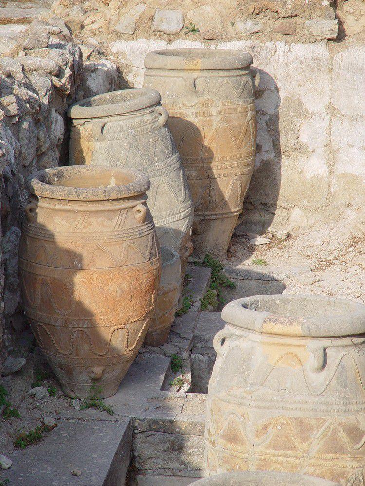 Le palais du roi Minos, à Cnossos, en Crète...