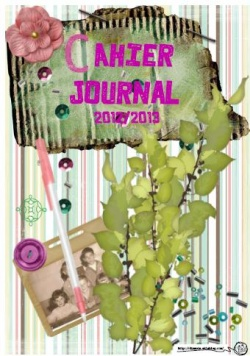 page garde cahier journal enseignant