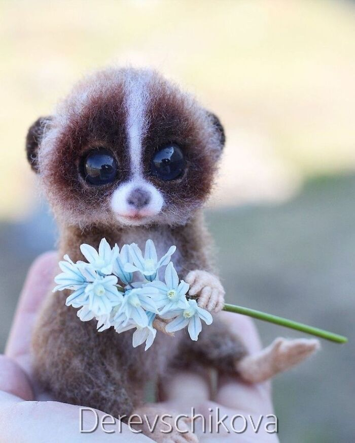 L'artiste Yulia Derevschikova crée d'adorables petits animaux réalistes avec de la feutrine