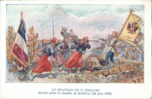 Drapeau 2e Zouaves - Solférino - Collectif France 40