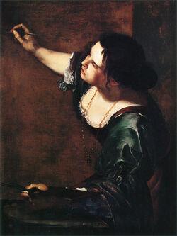 Artemisia Gentileschi Autoportrait