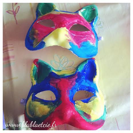 Peindre des masques #mardigras
