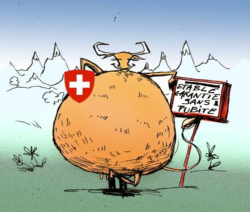 Pub et boîte aux lettres Suisse