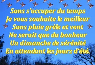 REFLEXION DE LA SEMAINE  27/04/2014