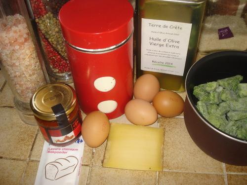 Un Marbré salé: Tomates et Epinards
