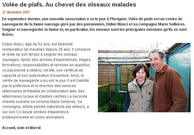 Le Télégramme - Le 17/12/2007