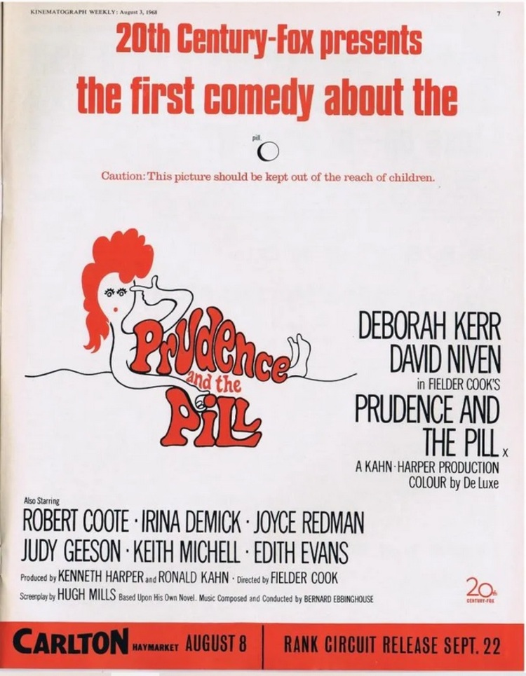 PRUDENCE AND THE PILL BOX OFFICE USA 1968