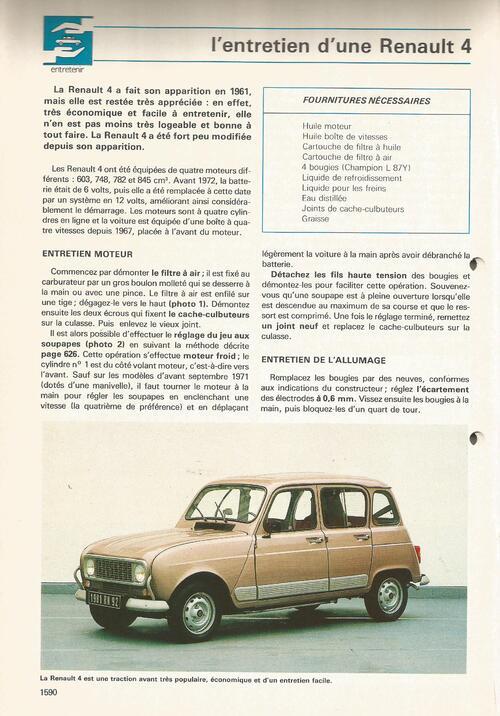 Entretien d'une Renault 4