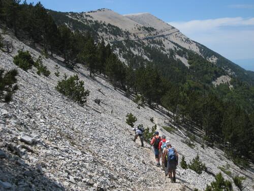 Le Mont Ventoux par la face nord