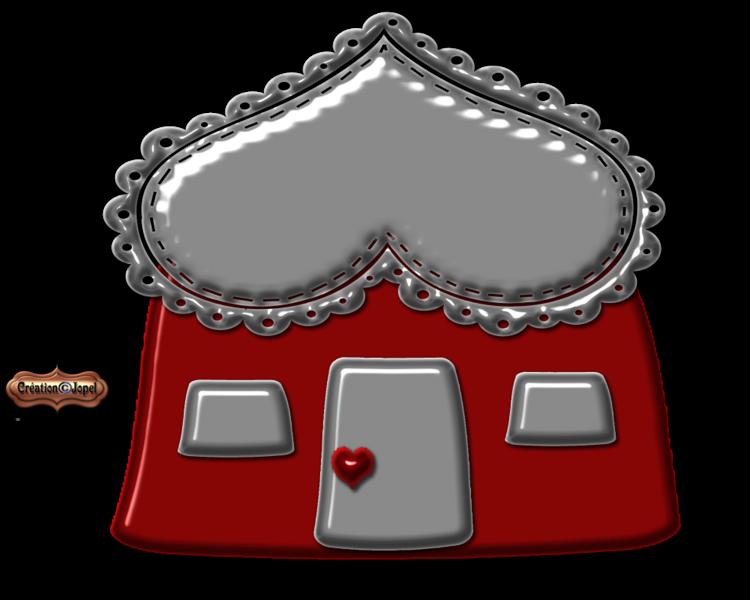 Des Maisons toute en coeur mini kit par Jopel