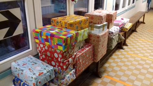 Livraison des boîtes de Noël