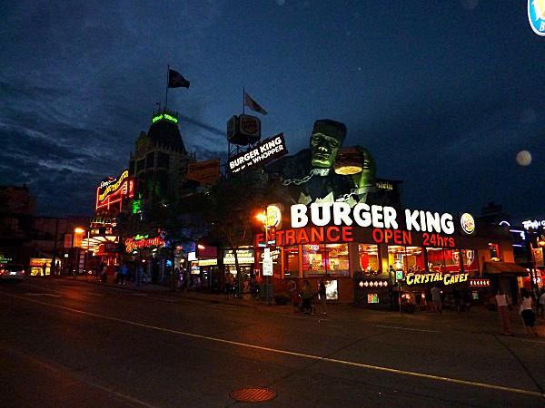 Niagara Falls Burger King nuit