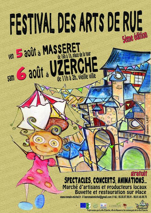 QUAND LES COULEURS S'EN MÊLENT, le 6 août au Festival des arts de la rue d'UZERCHE