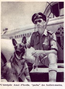 * Marc MONKOWICKI (1926-2010), ancien du BM XI, peintre de marine rend hommage aux Fusiliers-marins