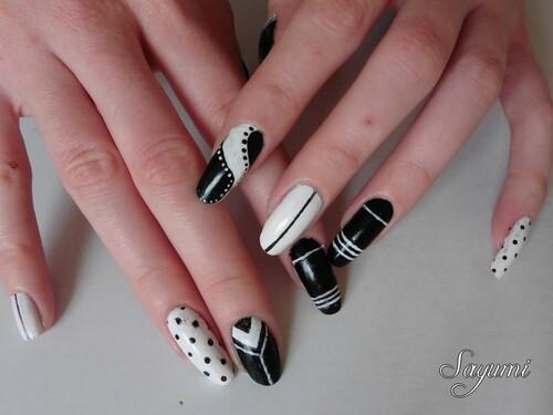 Nail Art Noir & Blanc