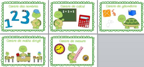 Affichage centres de français et mathématiques