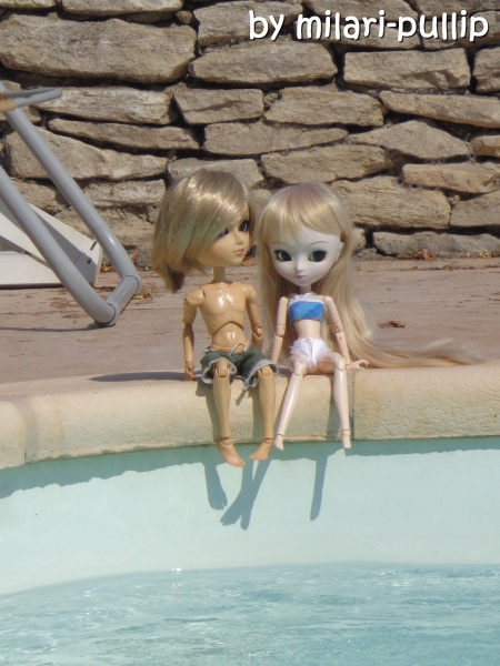 Séance photo 3 (J et L) : Piscine et bronzage