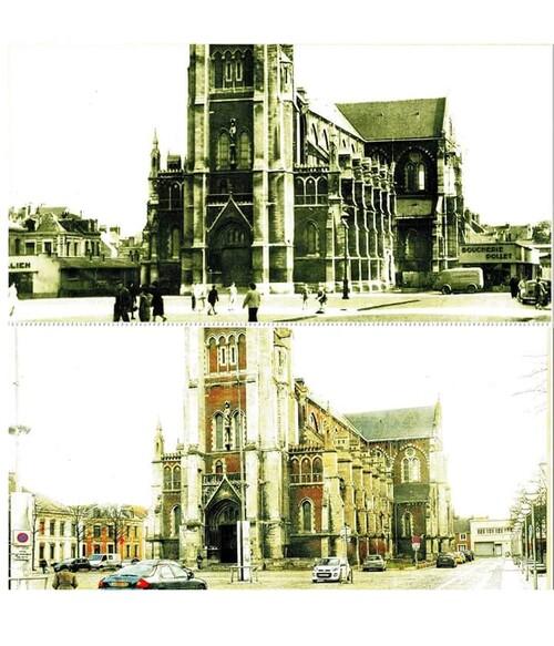 Des stands près de l'église Saint-Pierre