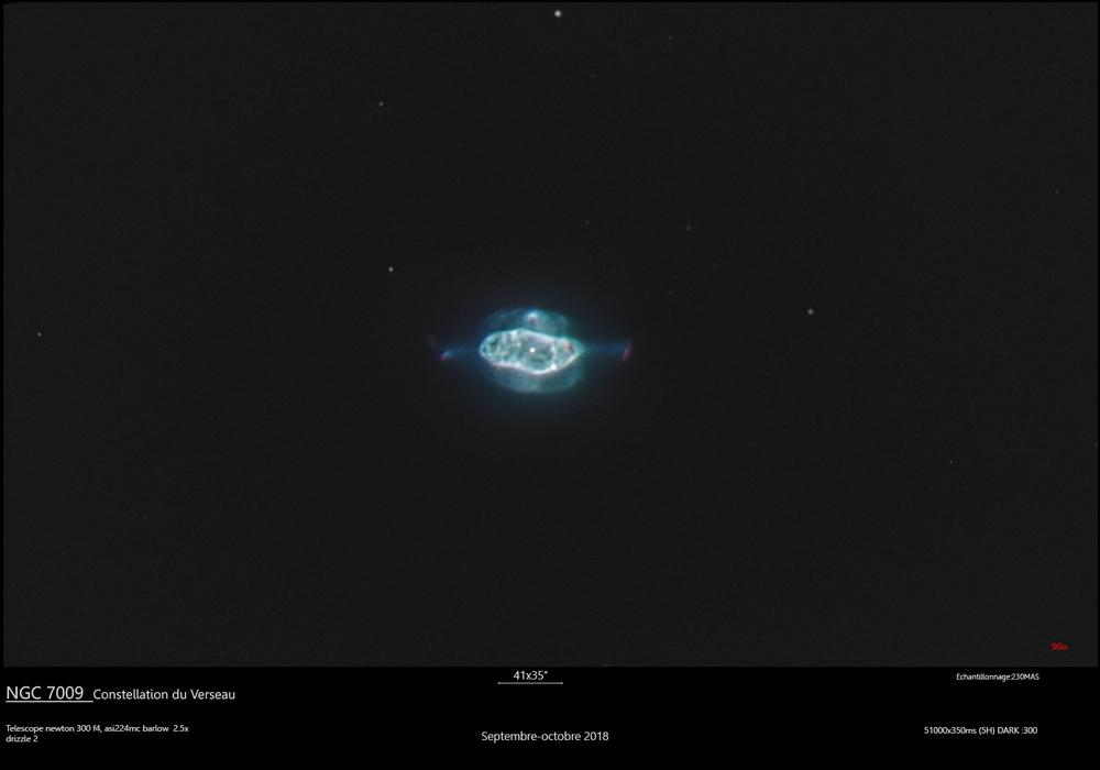 NGC 7009, la nebulese de Saturne