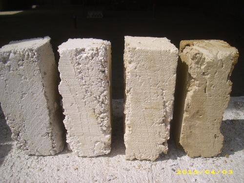 Test pour fabriquer des briques crues