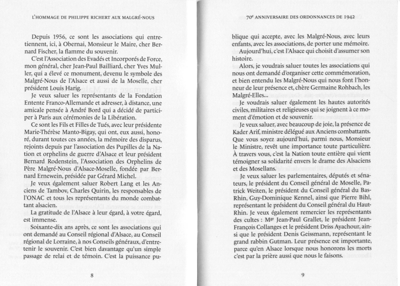 Texte de M.Richert