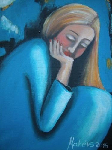 La femme bleue ...