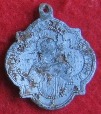 Sortie détection du 31 octobre 2015 médaille religieuse alu revers