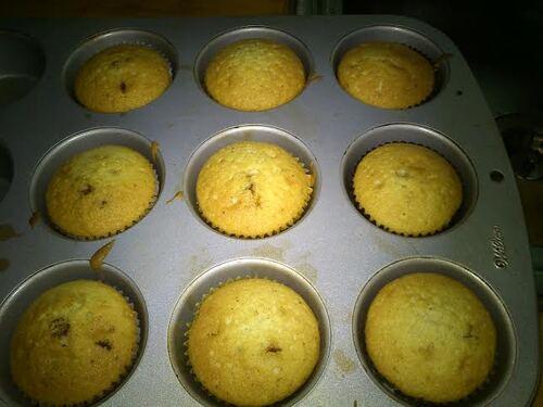 Des muffin vanille chocolat..pour utiliser les blanc d'oeufs