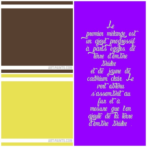 Dessin et peinture - vidéo 3353 : Comment obtenir du vert par différents mélanges de couleurs ?- acrylique ou huile.