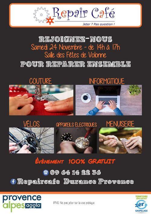 *Repair Café: Réparer ensemble à Volonne