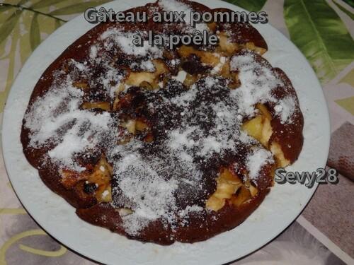 Gâteau aux pommes à la poêle et au thermomix ou pas
