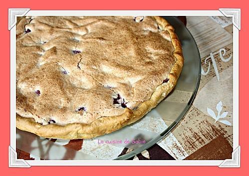 tarte aux framboises macaronnée de Gabrielle, la cuisine d
