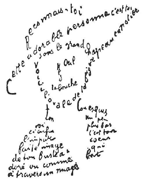 Calligrammes (Apollinaire, Birot, Leiris)