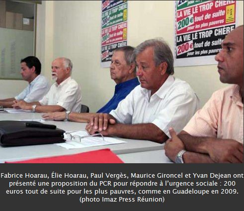 Réunion: Le PCR appelle à la solidarité la plus large