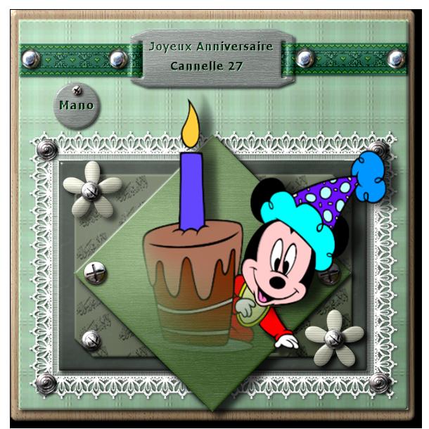 """""""Créas pour mon anniversaire"""" merci à tous!!!!!"""