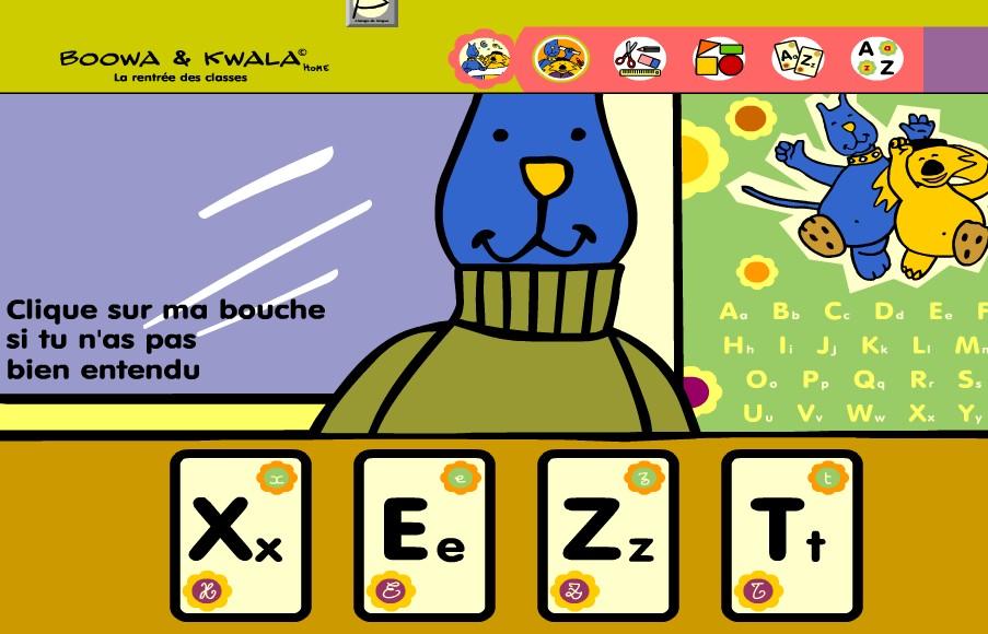jeux en ligne pour apprendre les lettres de l 39 alphabet la maternelle de camille. Black Bedroom Furniture Sets. Home Design Ideas