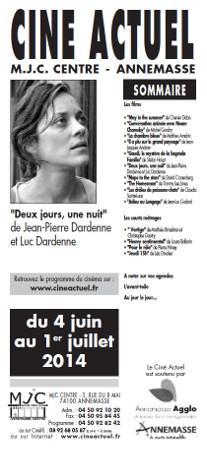 Programme du 4 juin au 1er juillet 2014