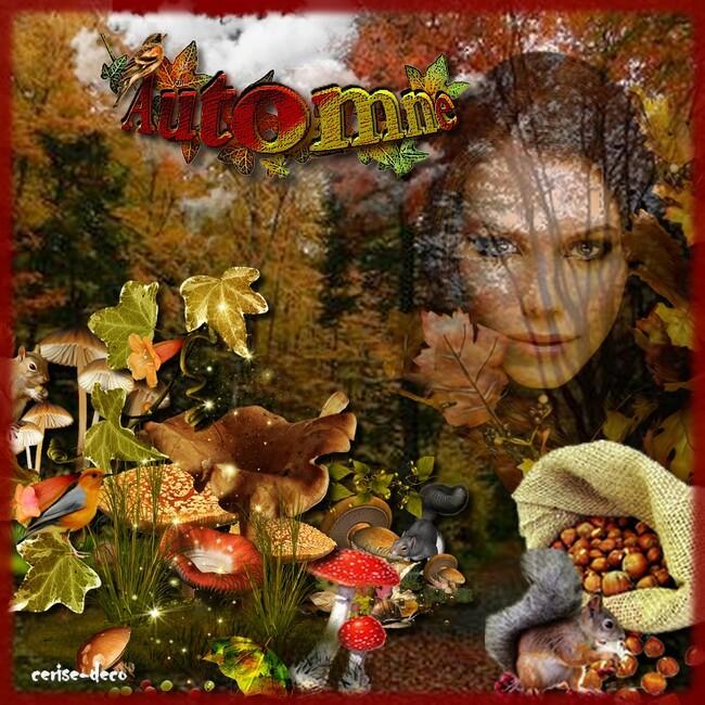 création automne pour le défi de babouchka