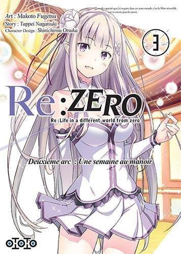 Re:zero - Deuxième arc Une semaine au manoir - Tome 03 - Makoto Fugetsu & Tappei Nagatsuki & Shinichirou Otsuka