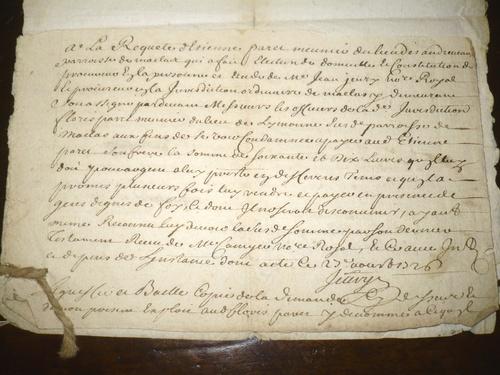 Flores, affaires diverses 1726-1743