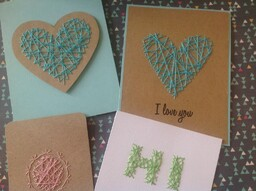 String art cards