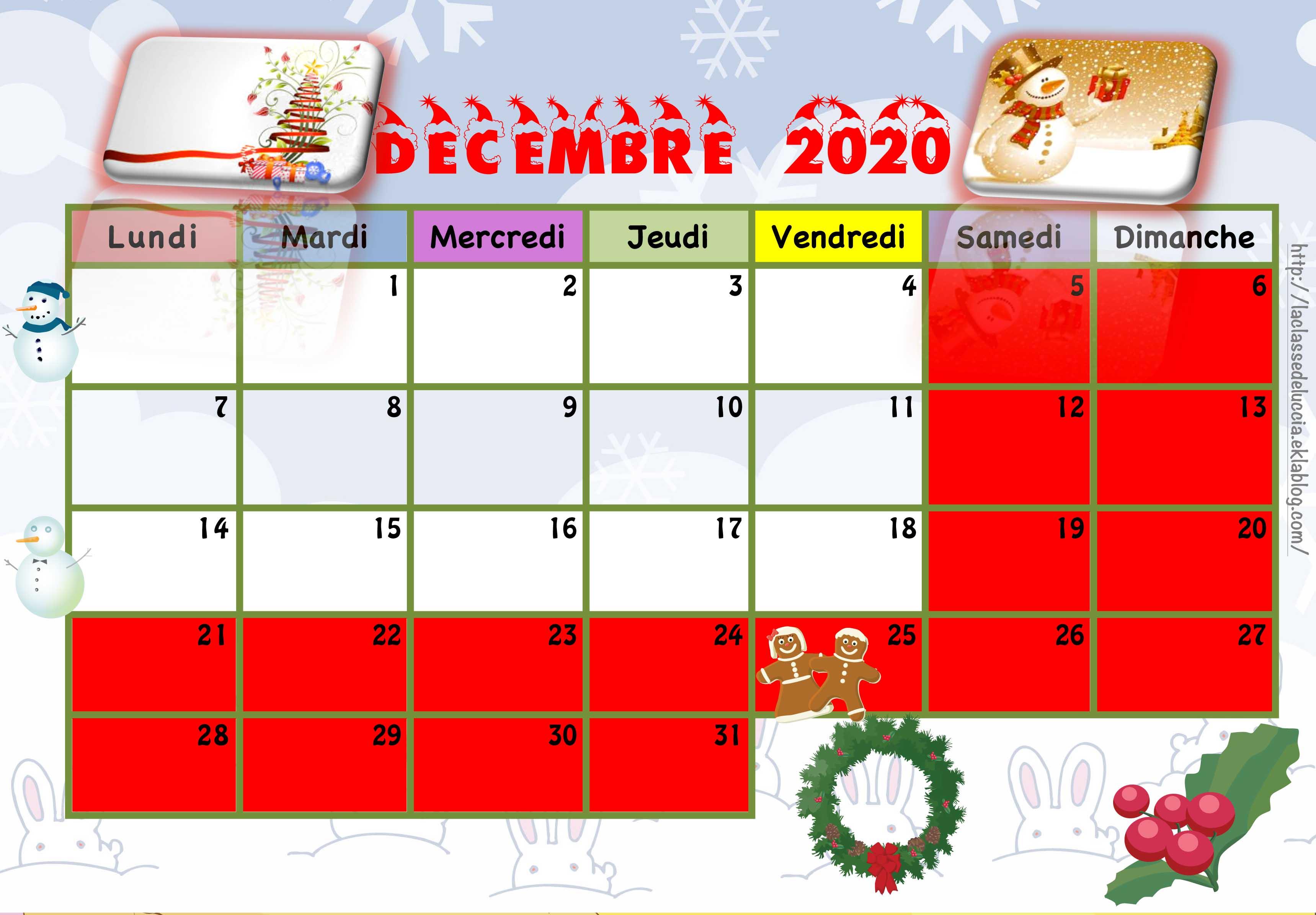 Calendrier Enfant 2021 Calendrier enfant 2020/2021   La classe de Luccia !