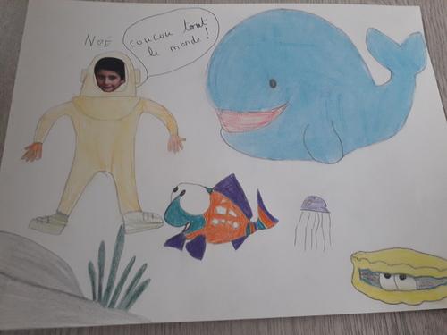 La Baleine et le petit poisson
